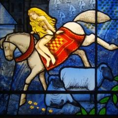 Godiva window 1 detail