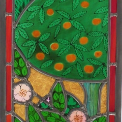 Creation 2 stained glass window