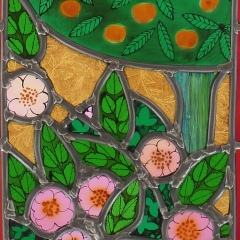 Creation 2b stained glass window