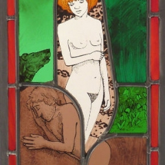 Creation 7 stained glass window