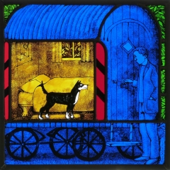 Coming home, stained glass panel, 30x30 cm. £550