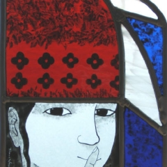 Quiet Woman, Stained Glass panel, 22x15cm. £230