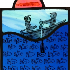 Rowers, stained glass panel, 21x17 cm. £230