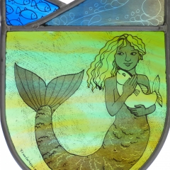 Trixie, stained glass panel, 20x16 cm. £230